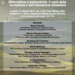"""Alla Fiera Milano-Rho il convegno """"Ristorazione e sostenibilità: il ruolo della formazione e dell'educazione alimentare"""""""