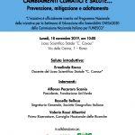 Cambiamenti climatici e salute… Prevenzione, mitigazione e adattamento