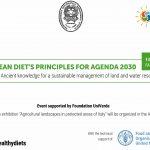 """GIORNATA DI STUDIO SU """"MEDITERRANEAN DIET'S PRINCIPLES FOR AGENDA 2030"""" E MOSTRA FOTOGRAFICA """"PAESAGGI AGRICOLI NELLE AREE PROTETTE D'ITALIA"""" ALLA FAO"""