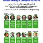 """""""Sicurezza sanitaria e sostenibilità ambientale: la filiera italiana per contrastare il Covid-19"""". Diretta streaming, 26 maggio, ore 11"""
