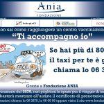 TI ACCOMPAGNO IO: A ROMA TAXI GRATIS PER OVER 80 CHE DEVONO RAGGIUNGERE I CENTRI DI VACCINAZIONE